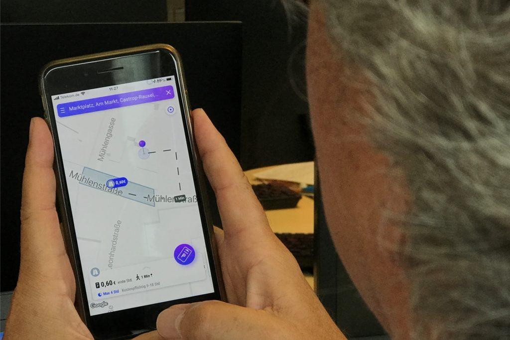 Parco, die neue Park-App, funktioniert jetzt auch in Castrop-Rauxel. Man kann damit Parkgebühren entrichten, aber auch navigieren.
