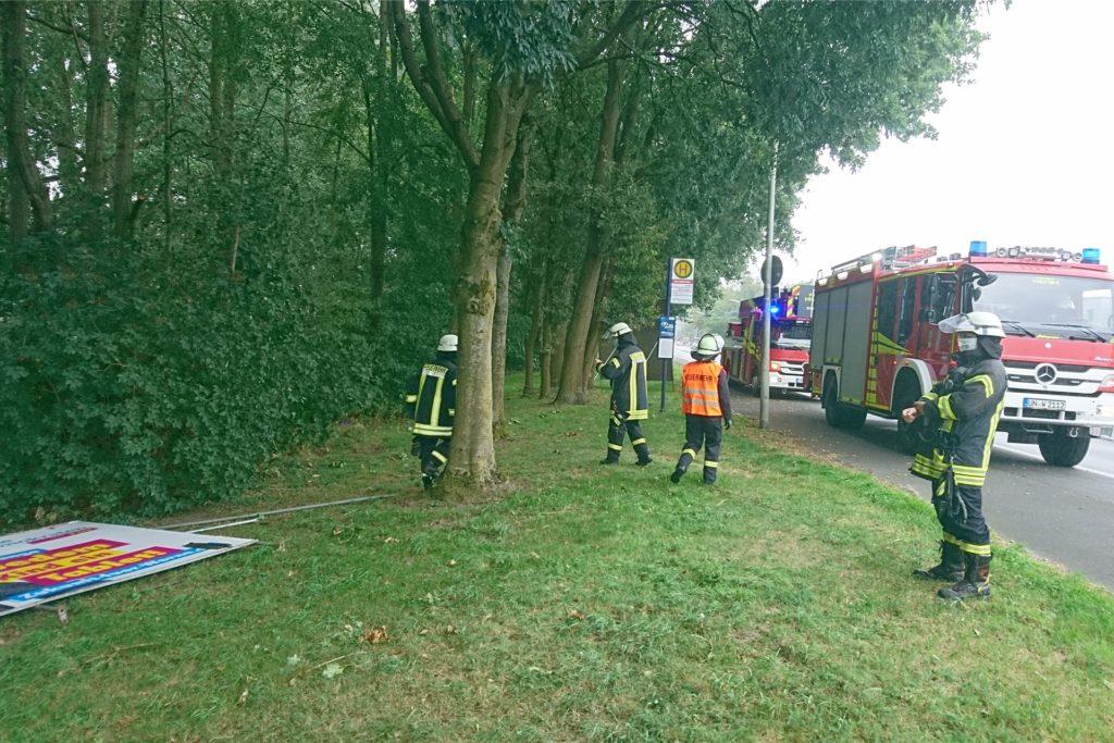 Mit zwei Fahrzeugen und zehn Einsatzkräften war die Feuerwehr zu dem kuriosen Einsatz angerückt.
