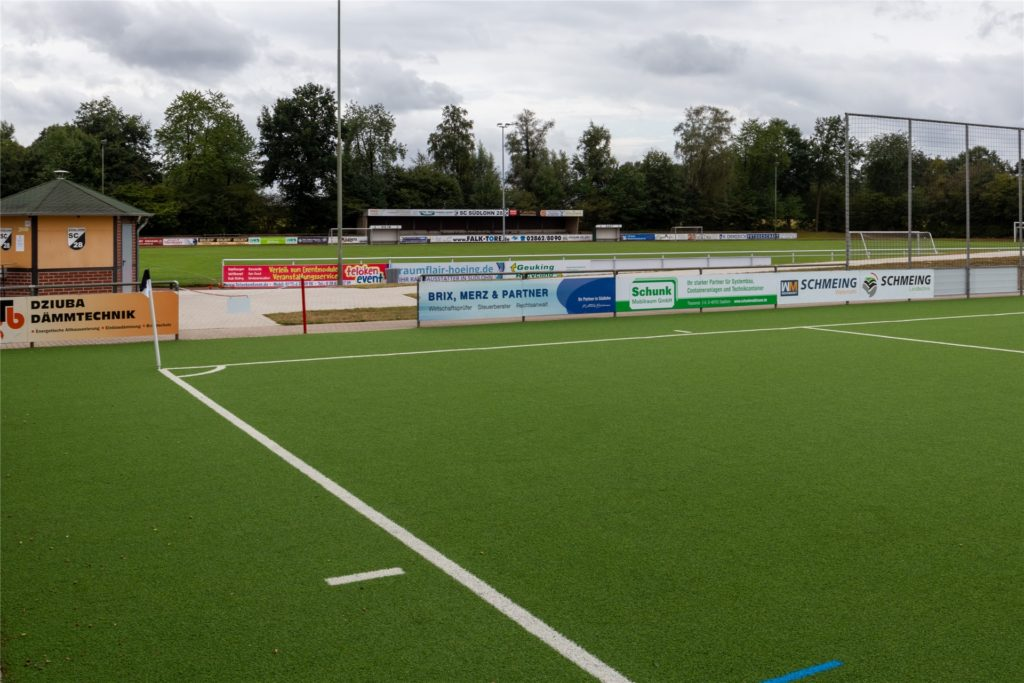 Rund um den Sportplatz des SC Südlohn sind verschiedene Trendsportflächen geplant. Damit soll die Sanierung der Halle attraktiver für ein Förderprogramm gemacht werden.