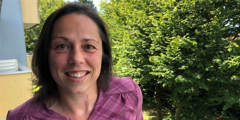 Diana Göpfert setzt sich für einen Bücherschrank im Brackeler Zentrum ein