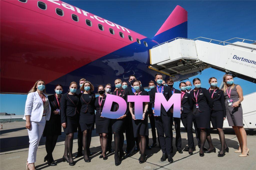 """Wizz hat mit der Eröffnung einer """"Base"""" in Dortmund ehrgeizige Ziele ausgegeben. Sie bedeuten mehr Flüge und damit auch mehr Lärmereignisse."""