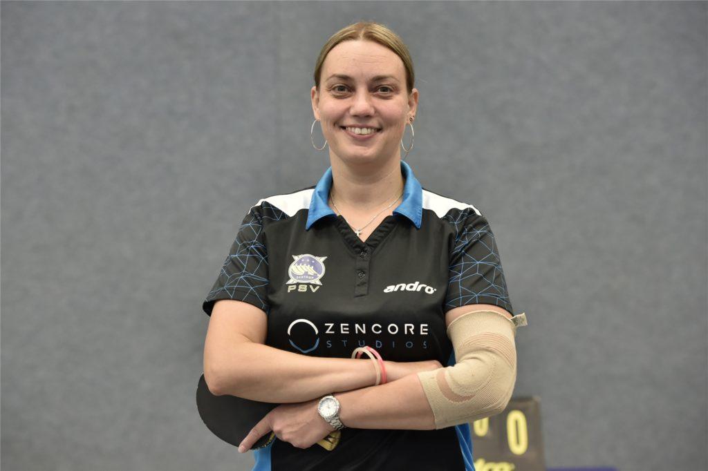 Tischtennisspielerin Nicola Schuchardt.