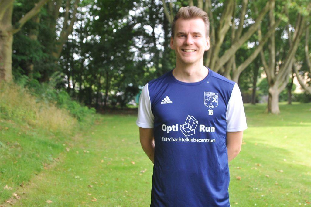 Moritz Budde, Mannschafts-Kapitän des Westfalenligisten SV Wacker Obercastrop.