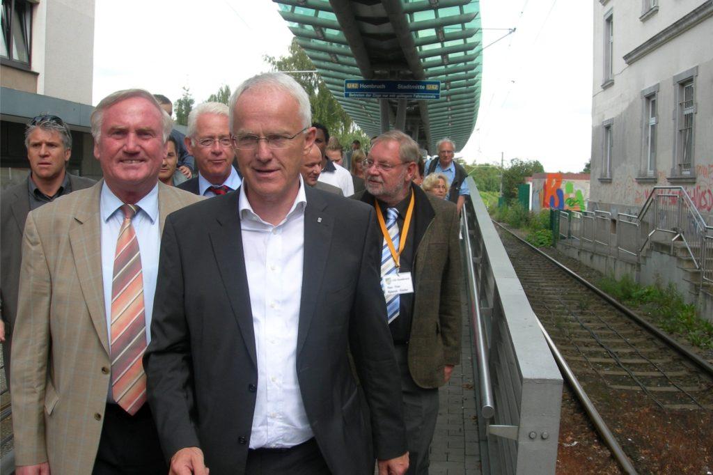 Hans Semmler fuhr mit Jürgen Rüttgers mit der Bahn aus der Innenstadt nach Hombruch.