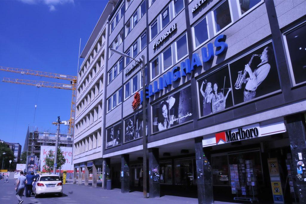 Seit den 50er-Jahren gab es in der Dortmunder City das Musikgeschäft Jellinghaus. Die Nachfolge übernahm das Unternehmen Just Music. Es schloss das Musikhaus in der Corona-Pandemie allerdings 20. Juni.