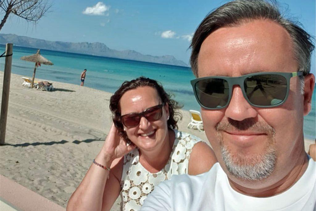 Fast menschenleere Strände fanden Elke und Jörg Weustenhagen im September auf Mallorca vor. Die Corona-Pandemie hielt viele Touristen fern.