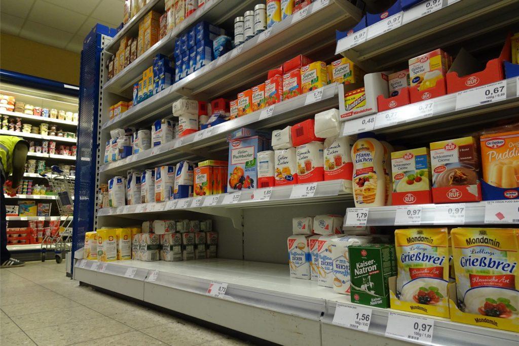 Auch Mehl und Zucker sind bei Hamster-Käufern beliebt.