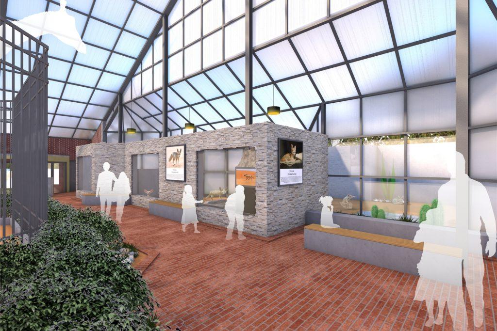 So soll sie werden: die neue Fennek-Anlage im Giraffenhaus. Der Bauantrag ist gestellt.