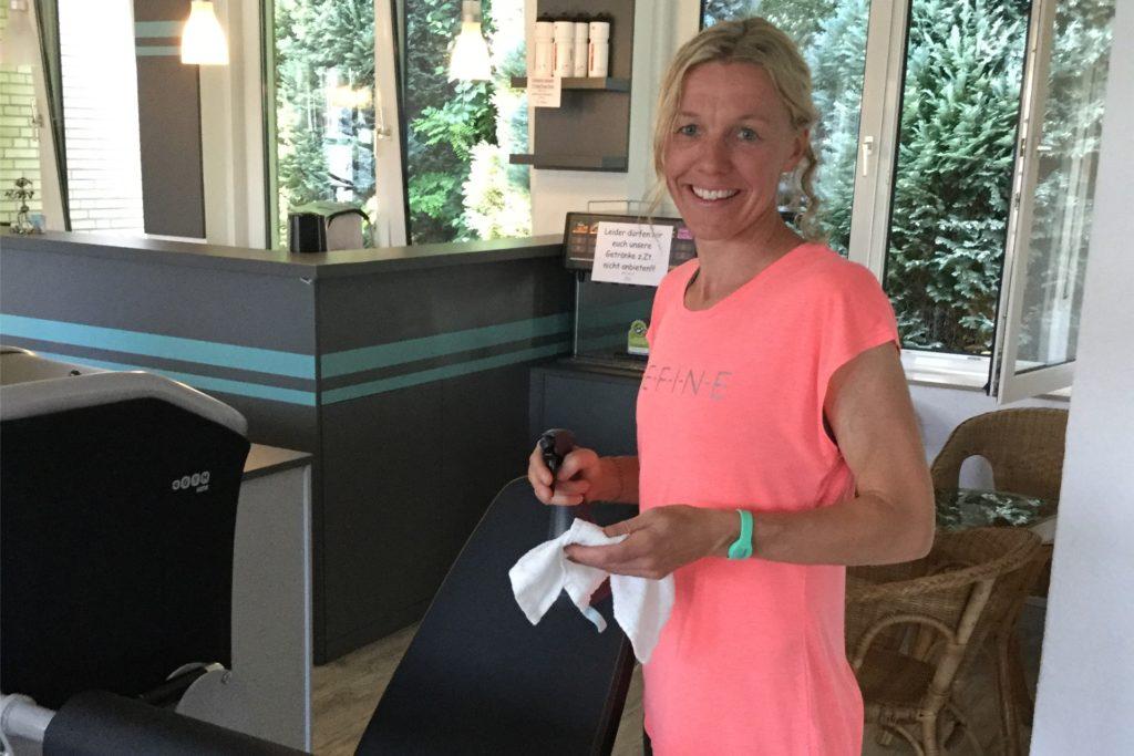 """Marion Nägeler, Leiterin von """"Lady & Fitness"""" in Werne, hat viele solidarische Rückmeldungen von ihren Kundinnen bekommen zur erneuten Zwangsschließung des Studios."""