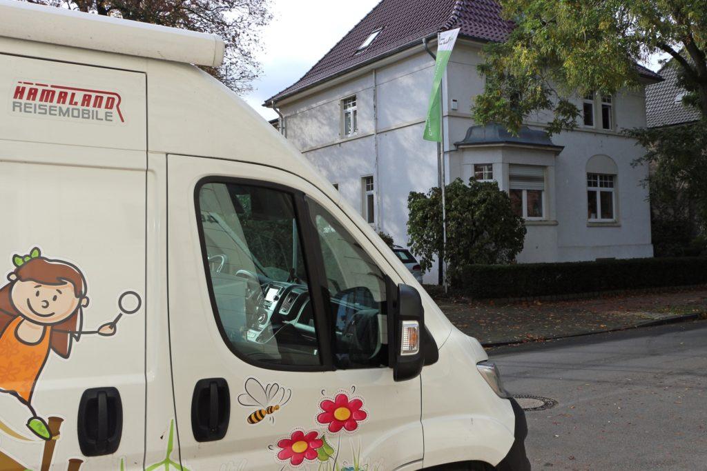 Bis zum Umzug in die umgestaltete Berkelmühle ist die Forschermühle in der Villa an der Dufkampstraße 40 untergebracht.