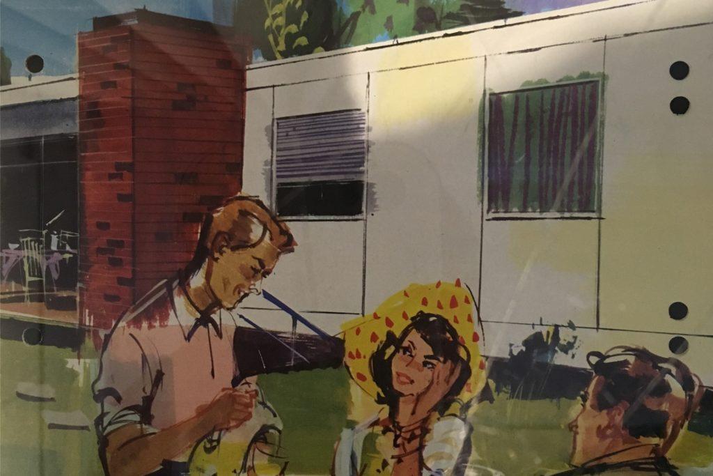 Ausschnitt aus einem Hoesch-Werbeplakat aus den 1960er-Jahren.