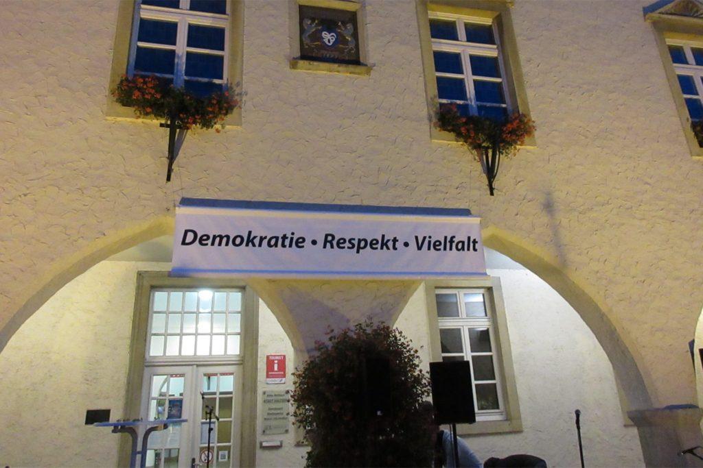 Am Alten Rathaus wollte das Forum am 6. November die Gedenkveranstaltung an die Reichspogromnacht durchführen.