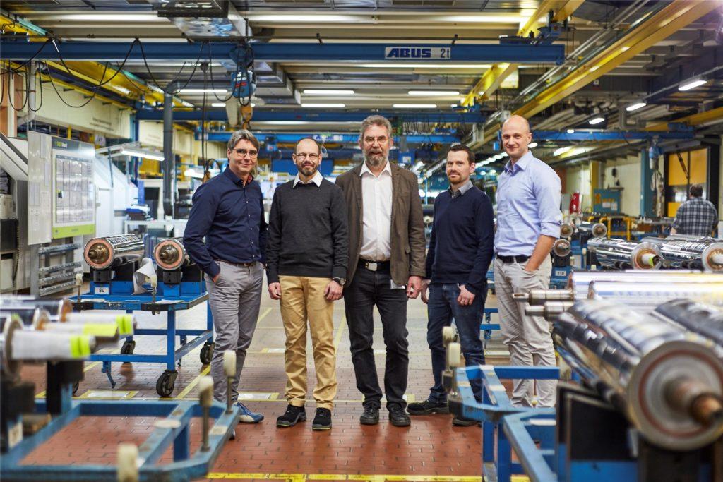 Das Forschungsteam (v.l.): Stephan Brüning, Manfred Jarczynski, Gerald Jenke, Johannes Finger und Martin Reininghaus