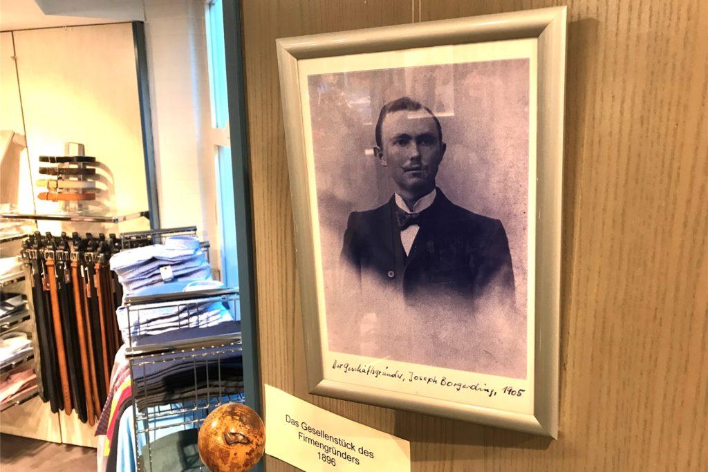 Josef Borgerding begründete die Firmengeschichte der Borgerdings vor 115 Jahren.