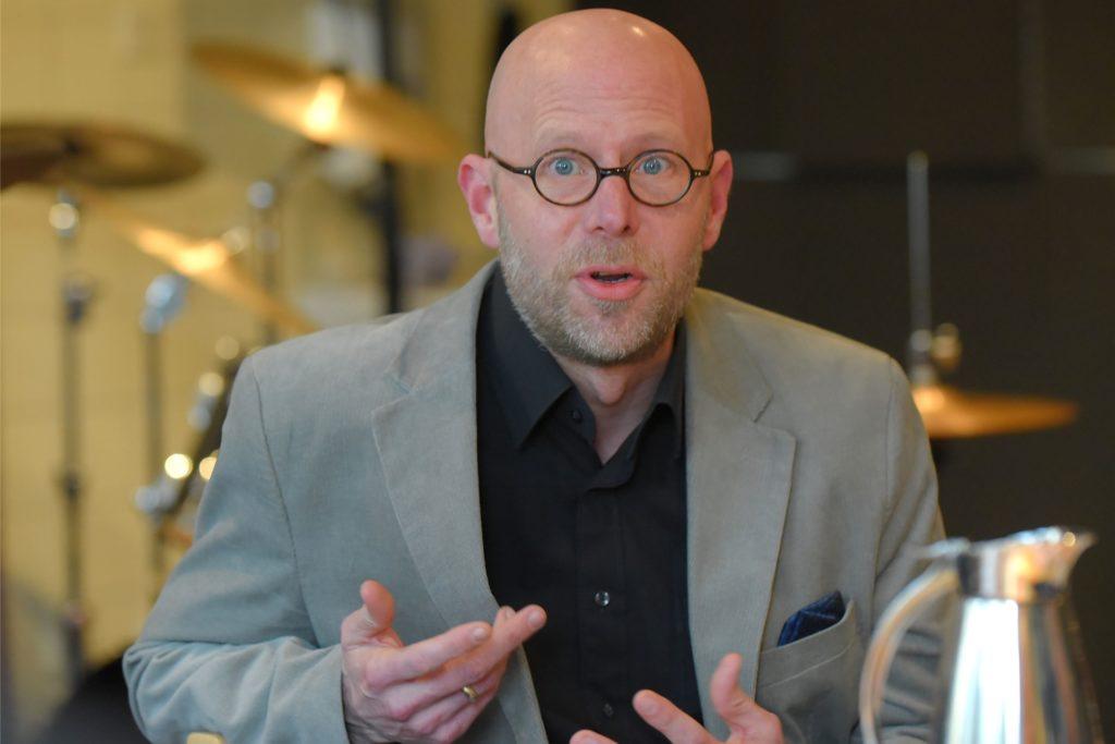 Der Leiter der Musikschule im Kuwebe, Marco Dafov, freut sich über die aktuelle Entwicklung.