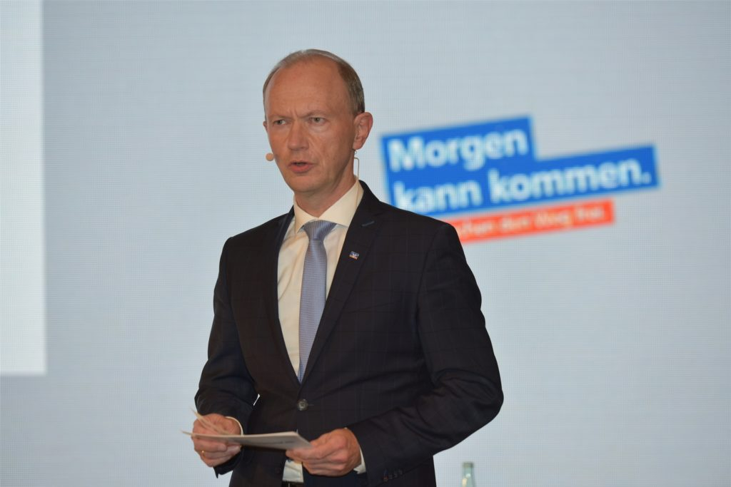 Vorstand Berthold te Vrügt blickte auf das volkswirtschaftliche Umfeld