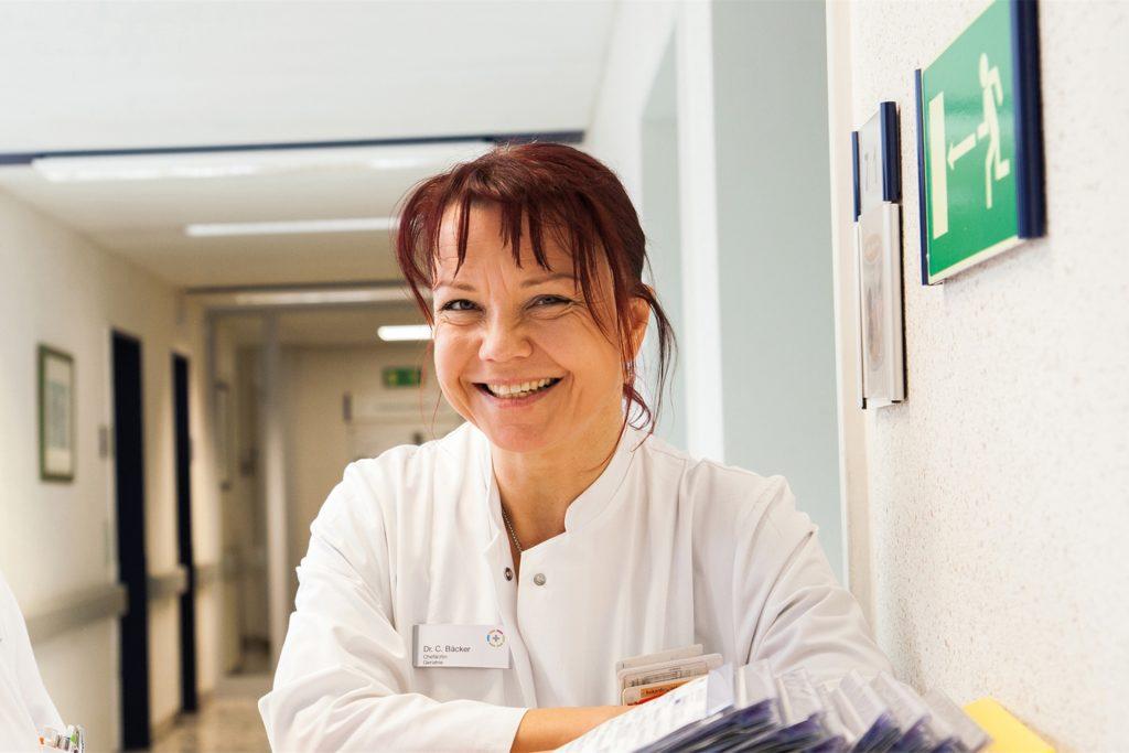 Christiane Bäcker, Chefärztin im Vredener Krankenhaus, warnt, den Coronavirus nicht zu unterschätzen:
