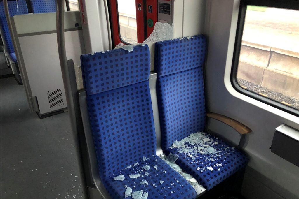 In der S-Bahn ging eine Glas-Abtrennung zu Bruch.