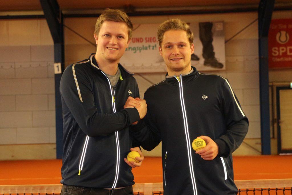 Im Februar dieses Jahres stellten die beiden Vorsitzenden, Niklas Sandberg (l.) und Robin Möllers, die Tennisgemeinschaft als Kooperation von BW Stadtlohn und GW Ahaus vor.