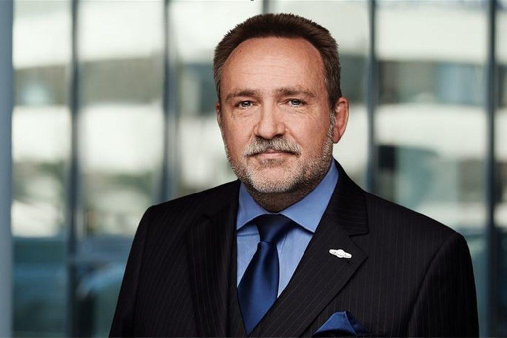Wolfgang Scharf, Geschäftsführer der Wirtschaftsauskunftei Creditreform am Phoenix-See in Dortmund
