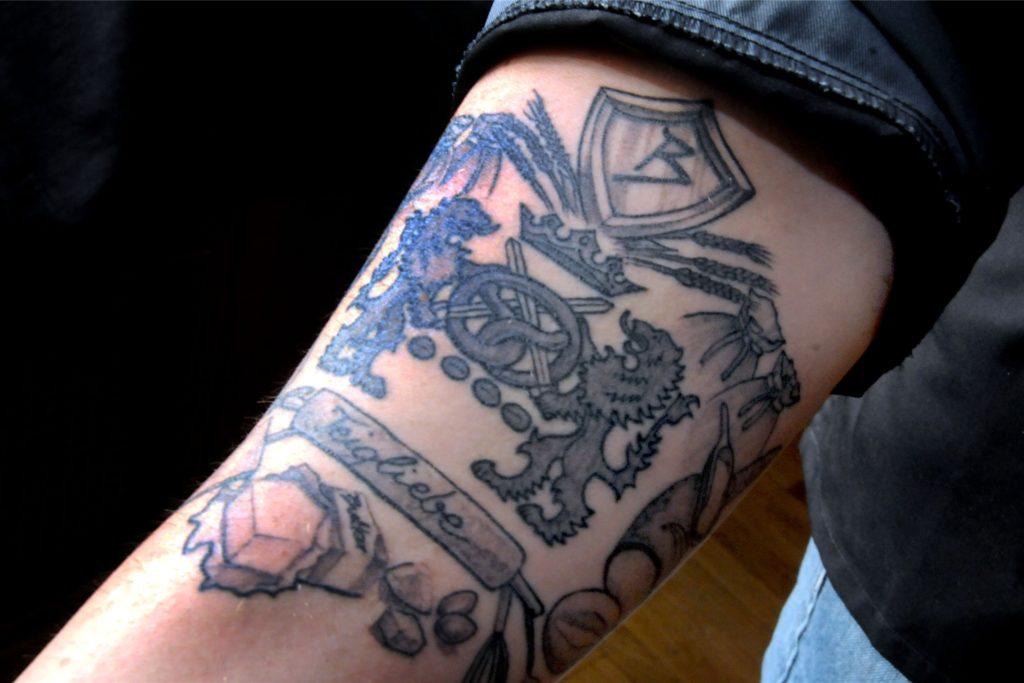 Seine Beruf ist die Leidenschaft für Bäckermeister Sascha Ruhnke, wie das neue Tattoo auf seinem rechten Unterarm beweist.