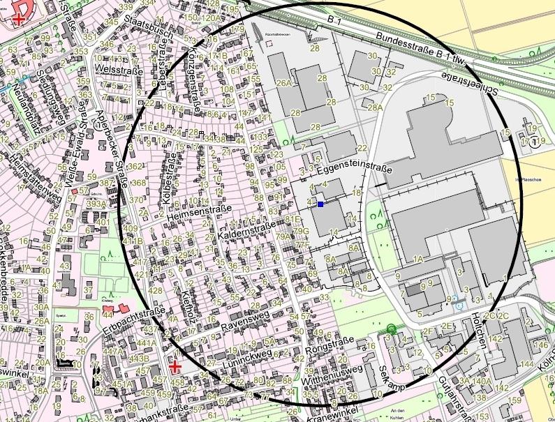 In einem Umkreis von 500 Metern muss das Gebiet evakuiert werden.