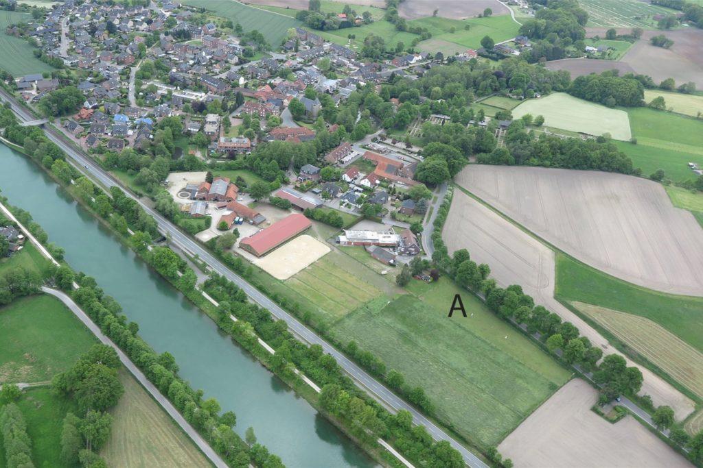 Auf der mit einem A gekennzeichneten Fläche möchte der Gahlener Gastwirt Friedrich Holtkamp einen Wohnmobilstellplatz errichten.