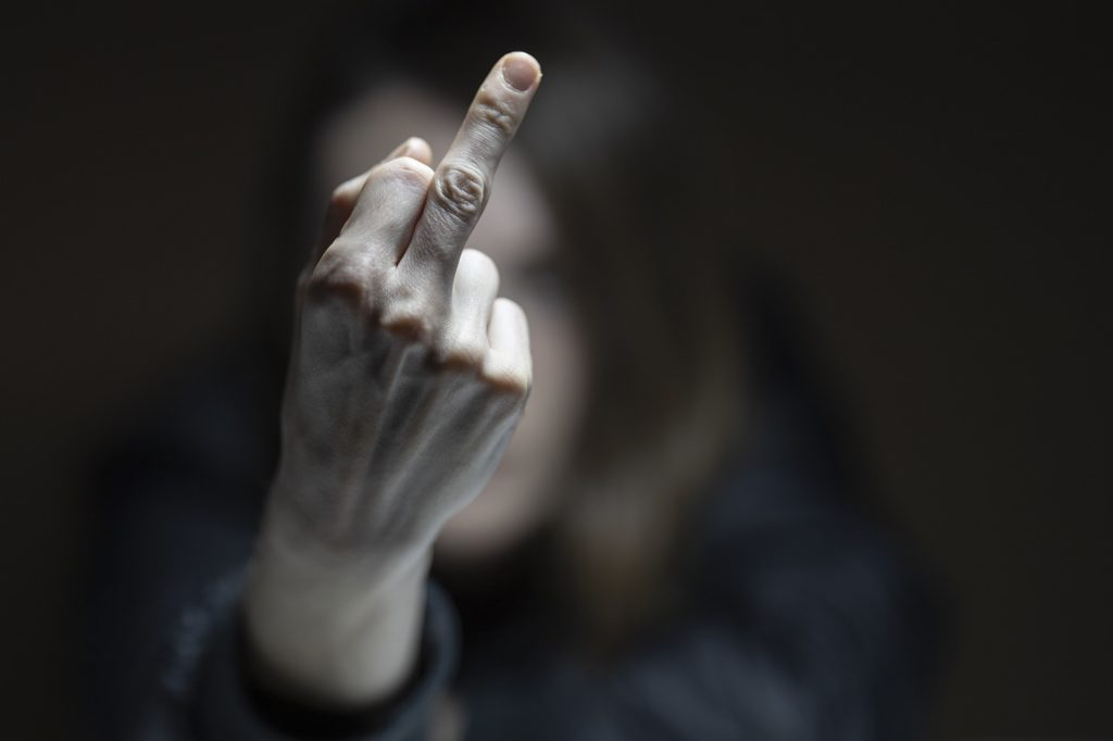 Weil sie einem Polizisten der Werner Wache den Mittelfinger gezeigt haben soll, landete eine Wernerin vor Gericht.