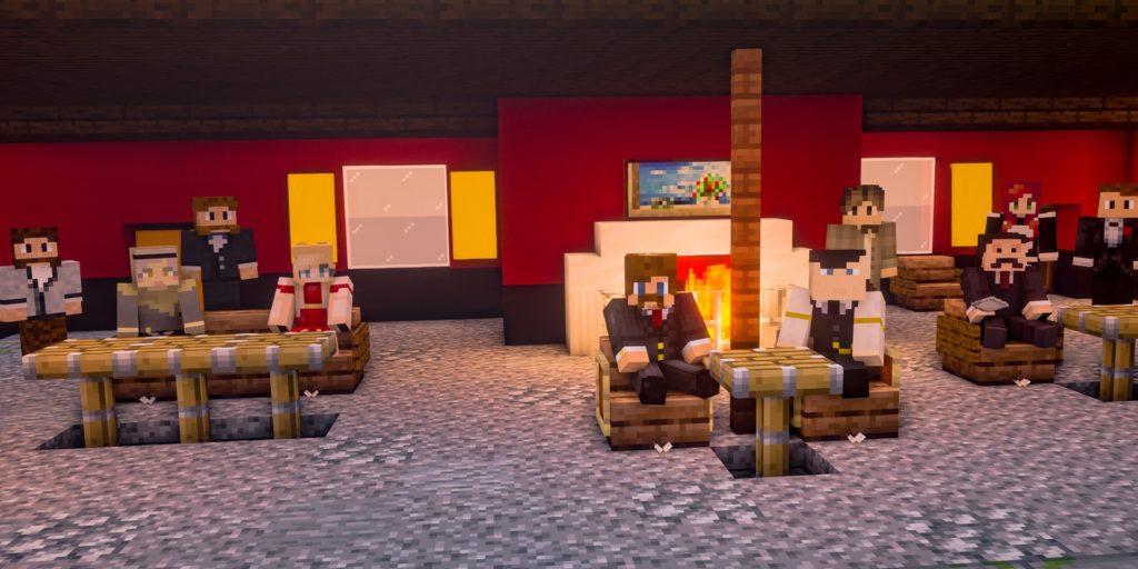 """Reale und virtuelle Welt: Die Mitglieder der Freilichtbühne Werne üben zurzeit über das PC-Spiel Minecraft für ihre Inszenierung des Stücks """"Und dann gab's keines mehr""""."""