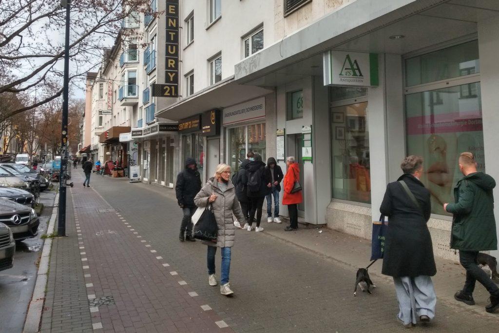 An der Kaiserstraße gibt es bislang keine Maskenpflicht.