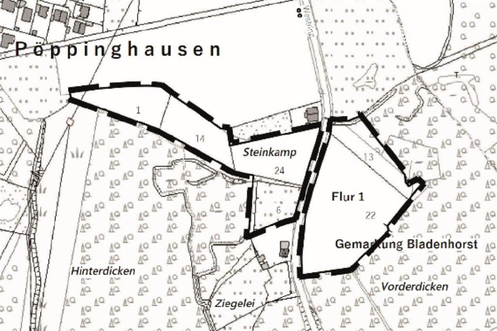 Auf diesen Flächen soll es Ausgleichsmaßnahmen für das Baugebiet an der Heerstraße geben.