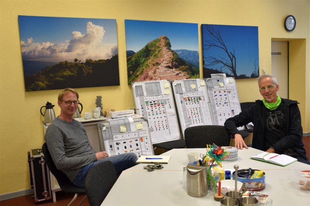 Tobias Zabel und Norbert Rempe-Thiemann haben von ihrem Alltag in Corona-Zeiten erzählt.