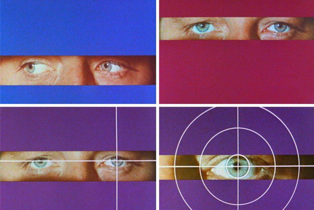 Die Kombo zeigt Motive aus dem Vorspann zur ARD-Krimireihe «Tatort» - die berühmten Augen von Horst Lettenmayer