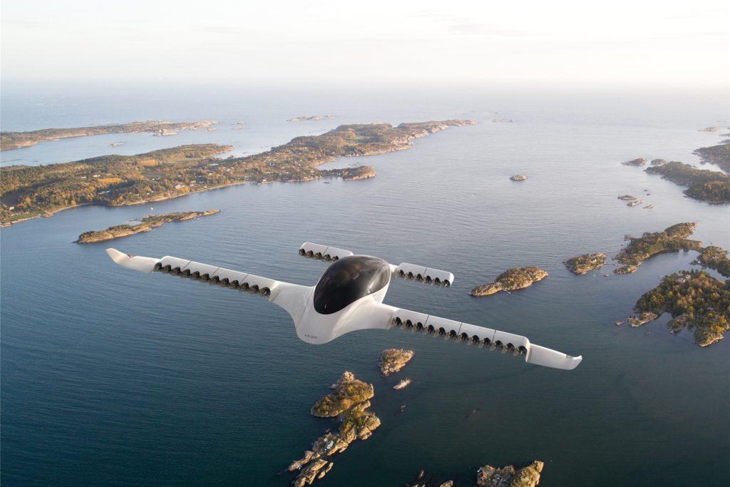 So sieht der aktuelle Prototyp der Firma Lilium aus. Serienreif ist er noch nicht. Bis 2025 soll ein Lufttaxi-Netz in Betrieb gehen. Ob der Flugplatz Stadtlohn-Vreden in ein Netz aufgenommen werden kann, soll jetzt geprüft werden.