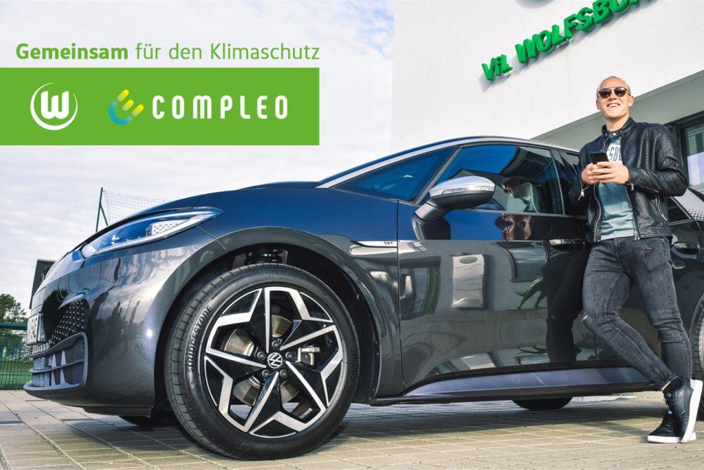 Xaver Schlager vom VfL Wolfsburg und Compleo gehen ab sofort gemeinsame Wege.
