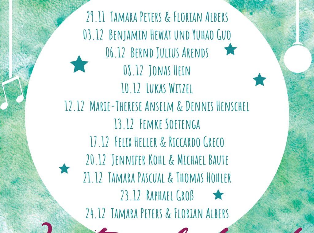 Für ihre Weihnachts-Livestreams bekommen Tamara Peters und Florian Albers Unterstützung von verschiedenen Künstler-Kollegen.
