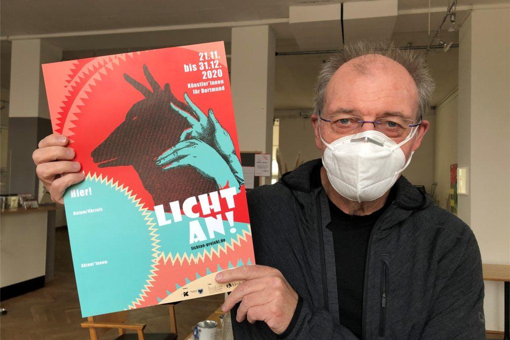 Rudolf Preuss, Chef des Brackeler Kunst- und Kulturzentrums Balou hat gemeinsam mit der Künstlerin Silvia Liebig das Projekt