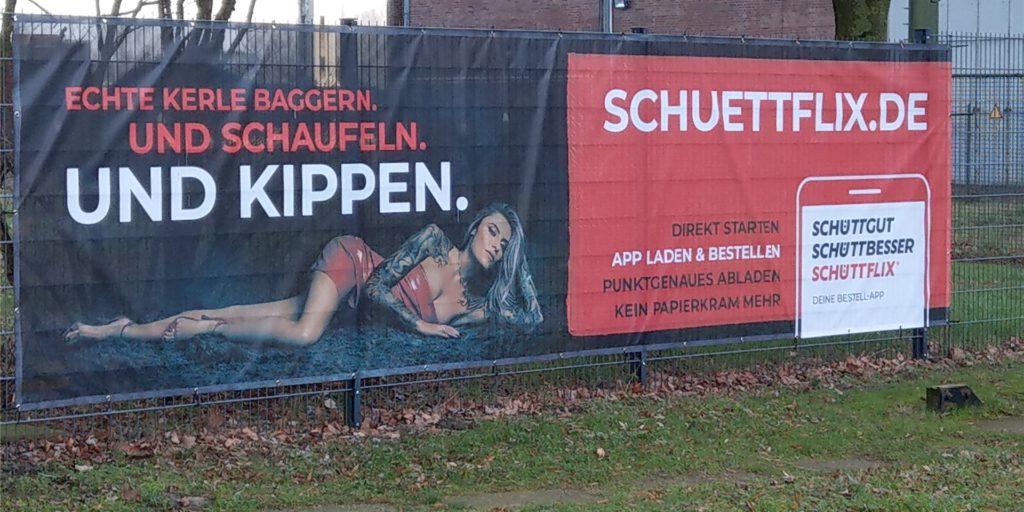 Dieses Werbebanner mit Sophia Thomalla hing in Lünen. Es ähnelte stark dem in Castrop-Rauxel.