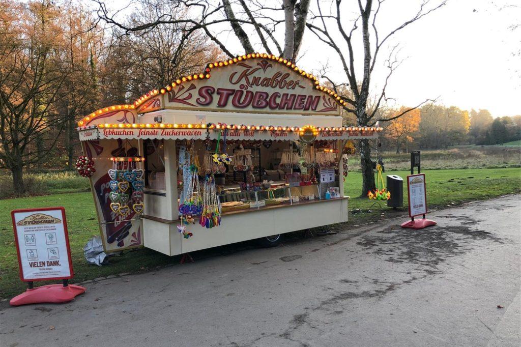 Das Knabberstübchen steht jetzt im Rombergpark statt in der Lüner Innenstadt.