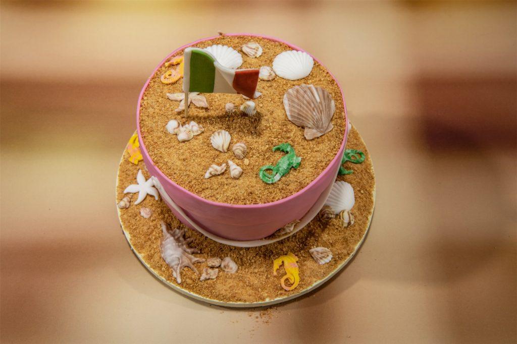 """Saras 3D-Torte zum Thema """"Ligurische Rivieria"""" beim"""