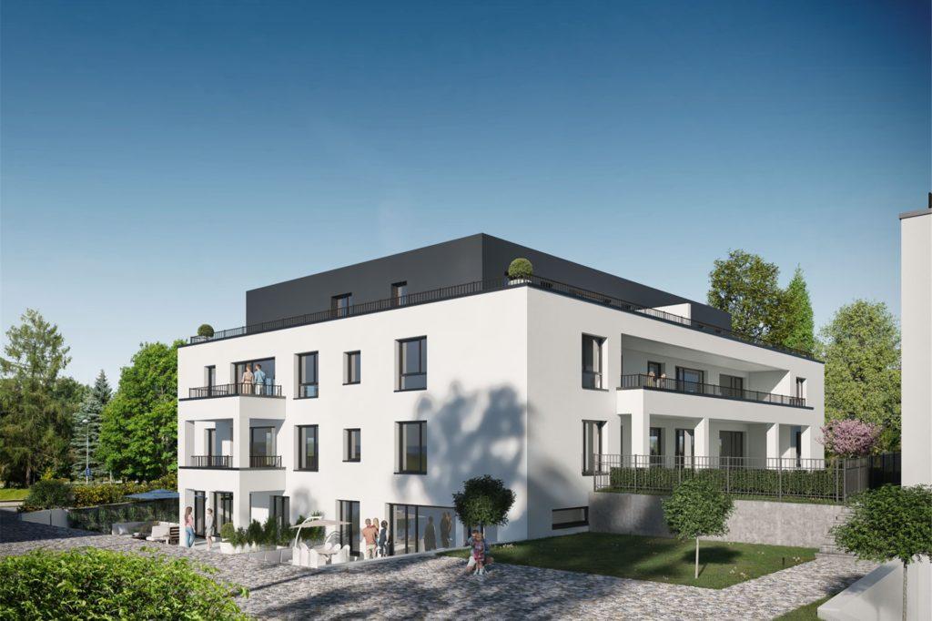 Von Souterrain-Wohnungen bis zum Penthouse im Dachgeschoss: Im neuen Wohncarree an der Hangeneystraße gibt es sehr verschiedene Wohnung zu mieten. Eines haben alle gemeinsam: Sie sind durchweg barrierefrei zu erreichen.