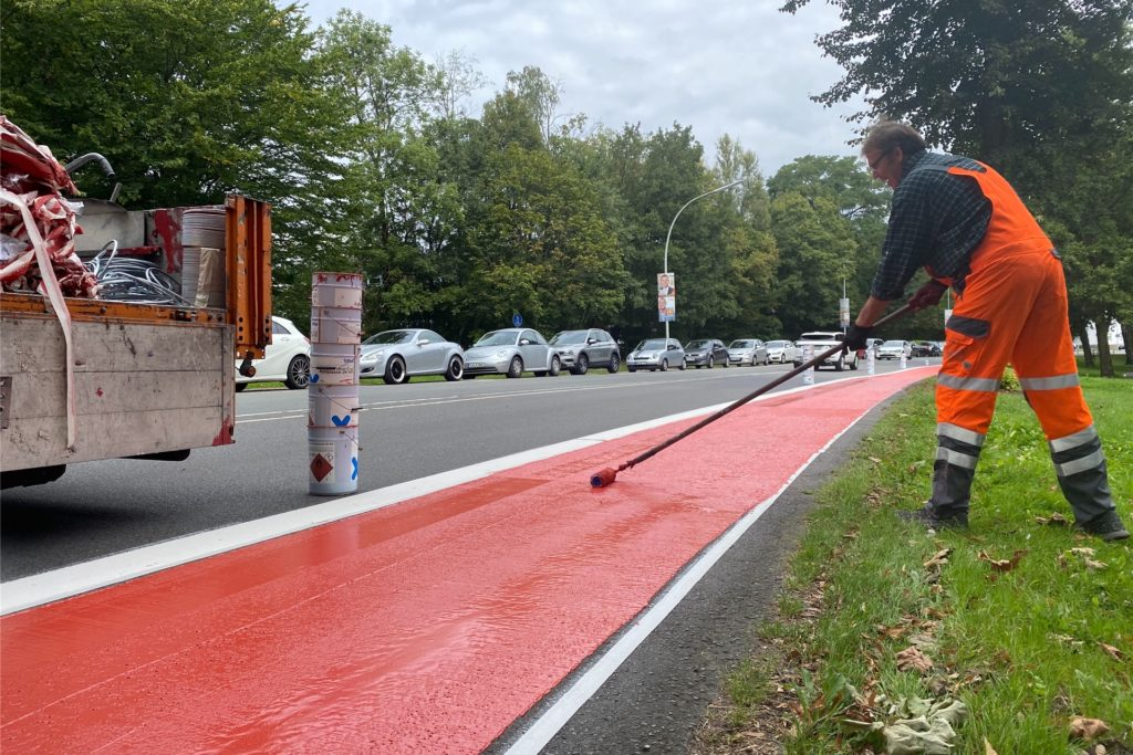 Einen neuen Radstreifen und einen Kreisverkehr hat die Münsterstraße im Jahr 2020 bereits bekommen. 2025 steht der nächste Kreisverkehr-Bau auf der Agenda - dann an der Kreuzung Hornemühle.
