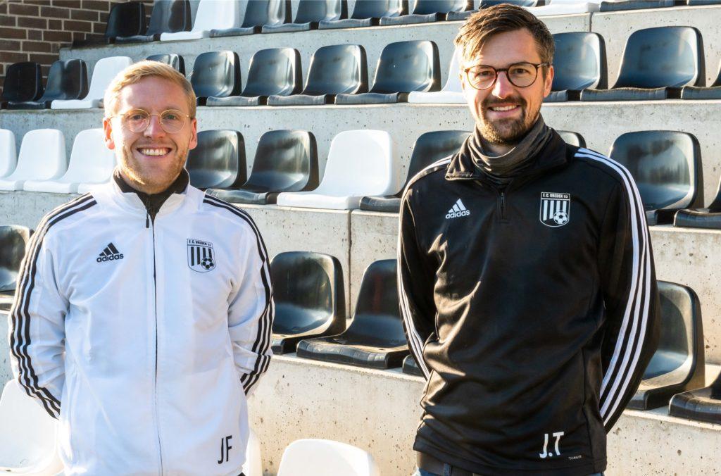 Das Trainergespann der zweiten Mannschaft: Jannik Frenefort (l.) und Jan-Bernd Tenhumberg