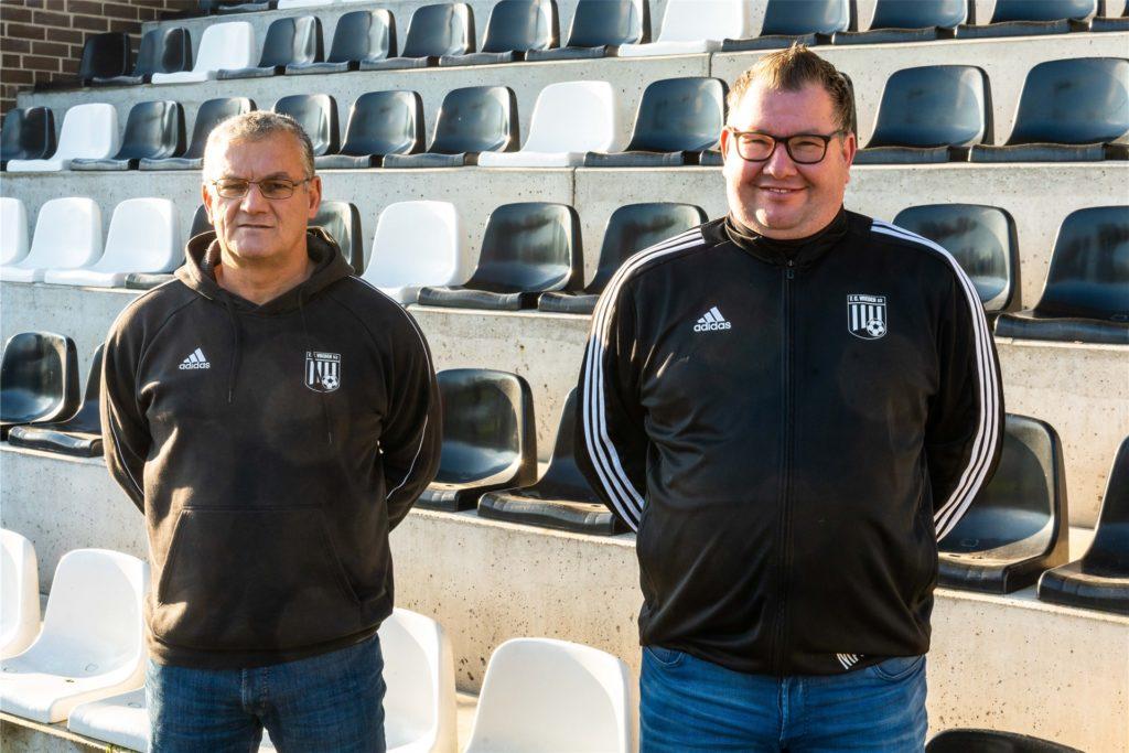 Die neu gegründete Vierte läuft unter Bernd Buß (l.) und Markus Austermann auf.