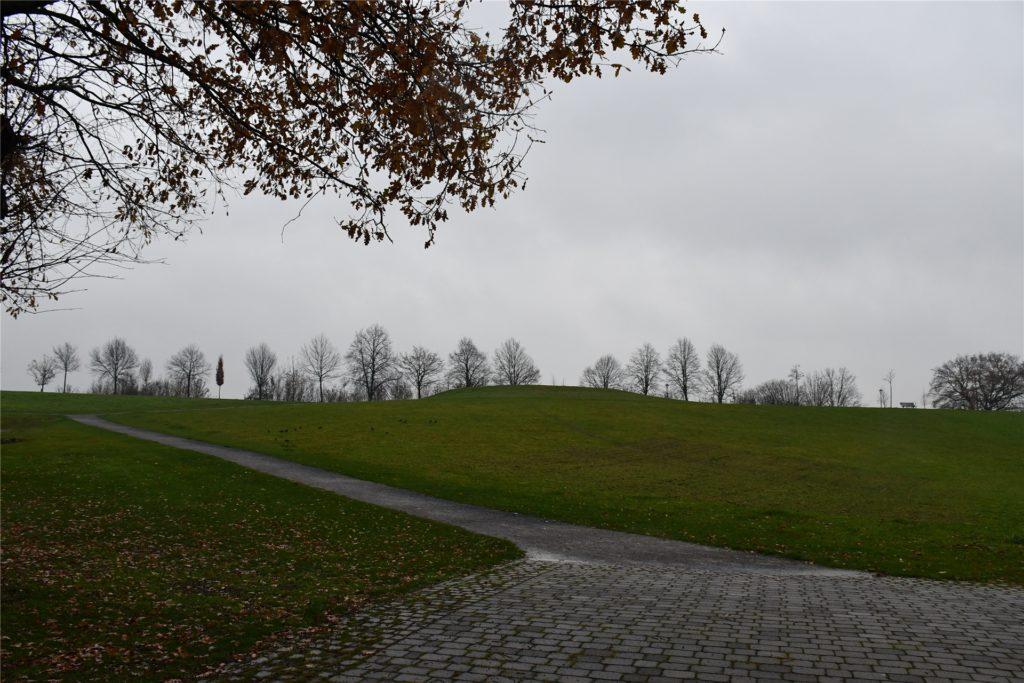 Die Wiesen an der Alten Fahrt bieten viel Platz und Fläche für die Besucher der Weihnachtsgottesdienste.