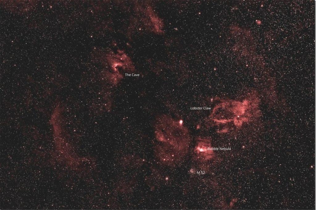 Drei Stunden lang wurde diese Aufnahme des Sternenhimmels belichtet.