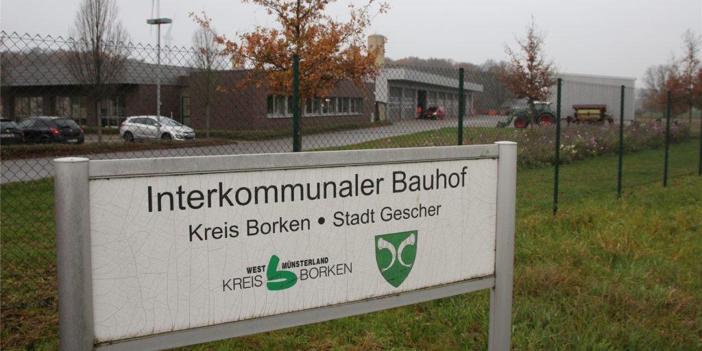 Am Kreis-Bauhof in Velen wird das Impfzentrum eingerichtet.