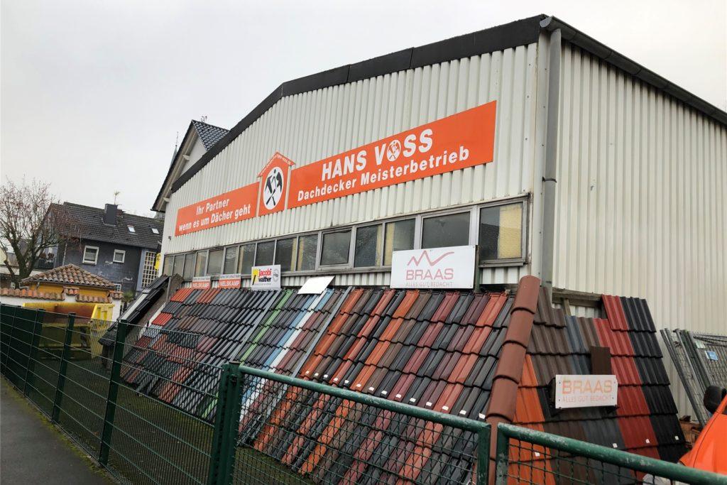 So sieht der Dachdeckerbetrieb von Hans Voss von der Asselburgstraße aus