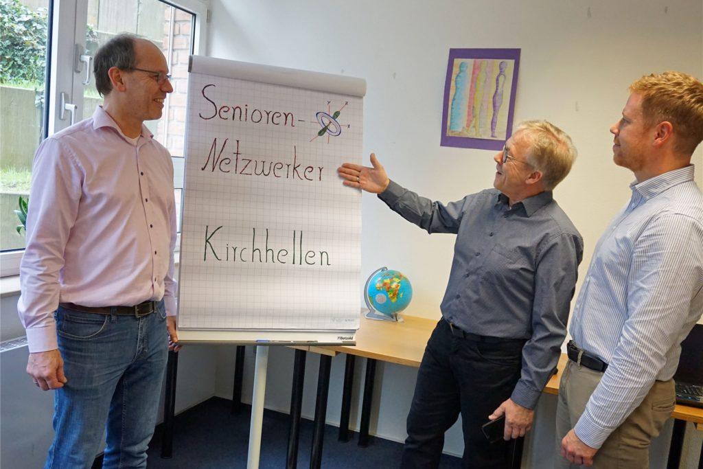 Der Kirchhellener Dieter Pommerenke (2.v.r.) gründete im Februar die Gruppe