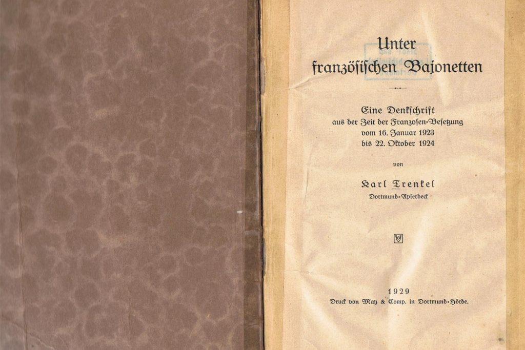 Die Originalausgabe der Denkschrift. Kai Schäder hat diese in mühevoller Kleinstarbeit handschriftlich in sein Buch übertragen.